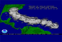 Satellite image of Hurricane George