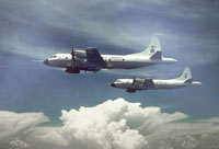 Hurricane hunter aircraft
